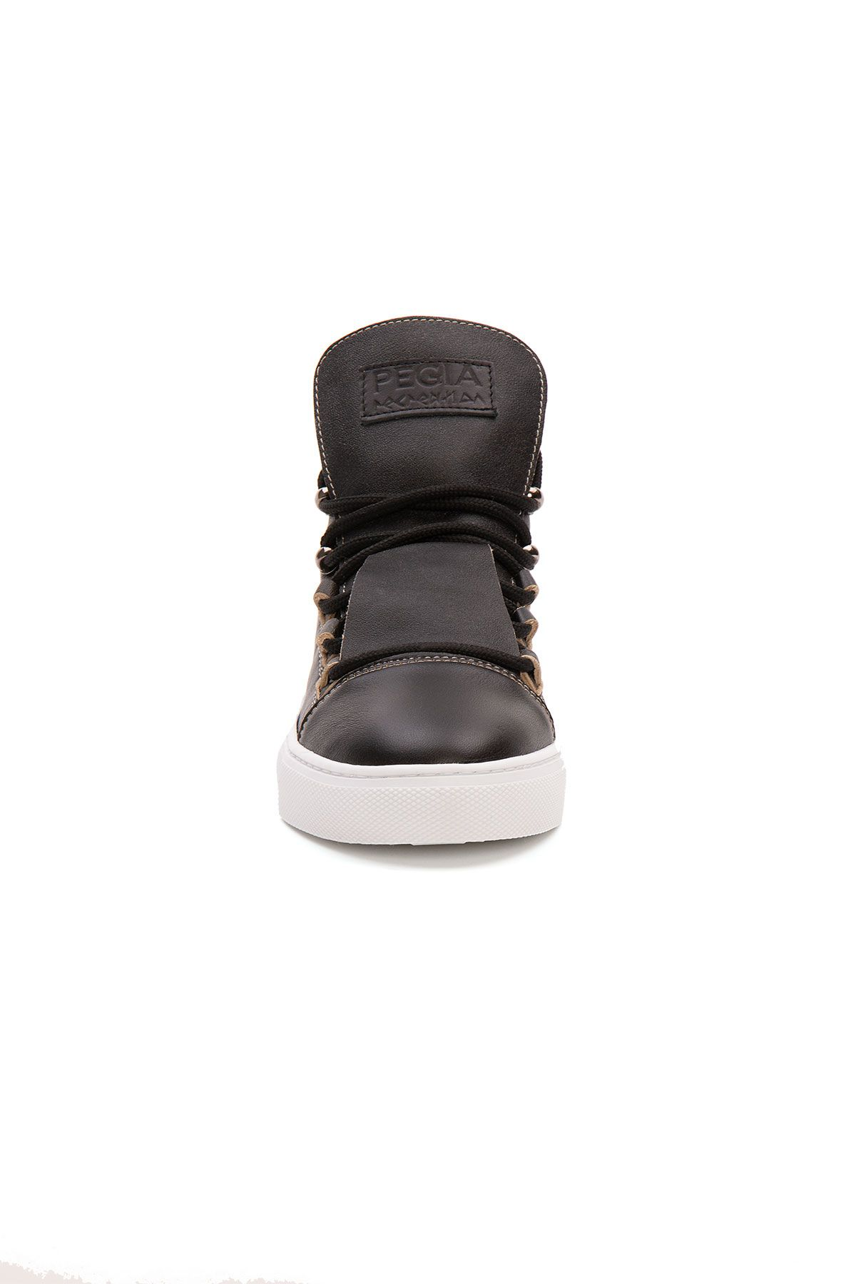 Pegia Hakiki Deri Kadın Sneaker LA1326 Siyah