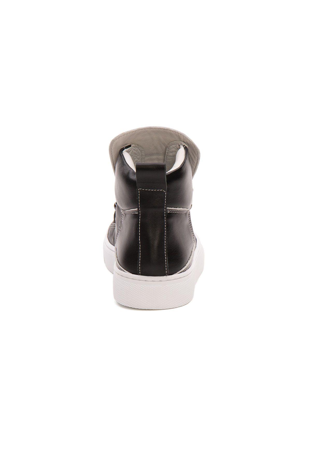 Pegia Genuine Leather Women's Sneaker LA1327 Black
