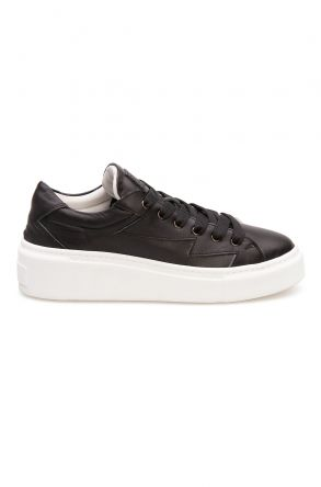 Pegia Genuine Leather Women's Sneaker LA1505 Black