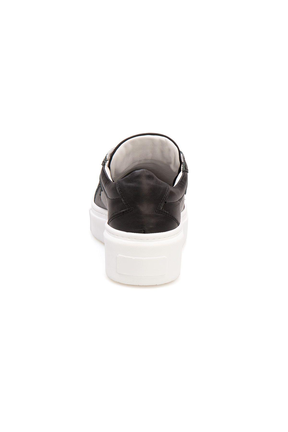 Pegia Genuine Leather Women's Sneaker LA1505 Black