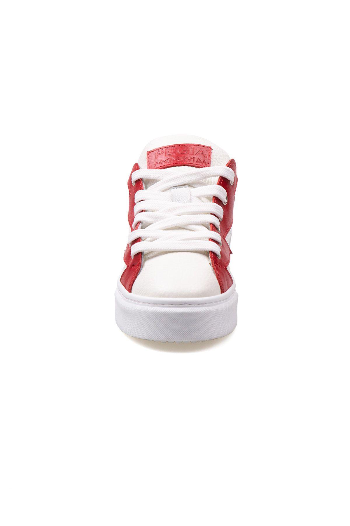 Pegia Genuine Leather Women's Sneaker LA1506 White