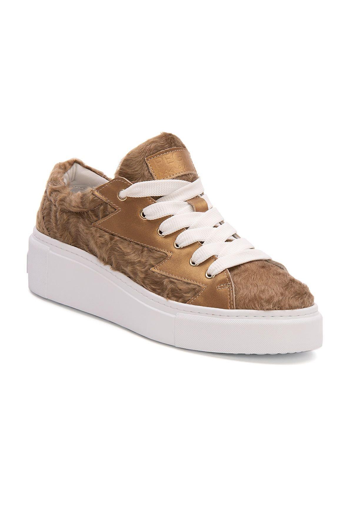 Pegia Genuine Leather Women's Sneaker LA1510 Ginger