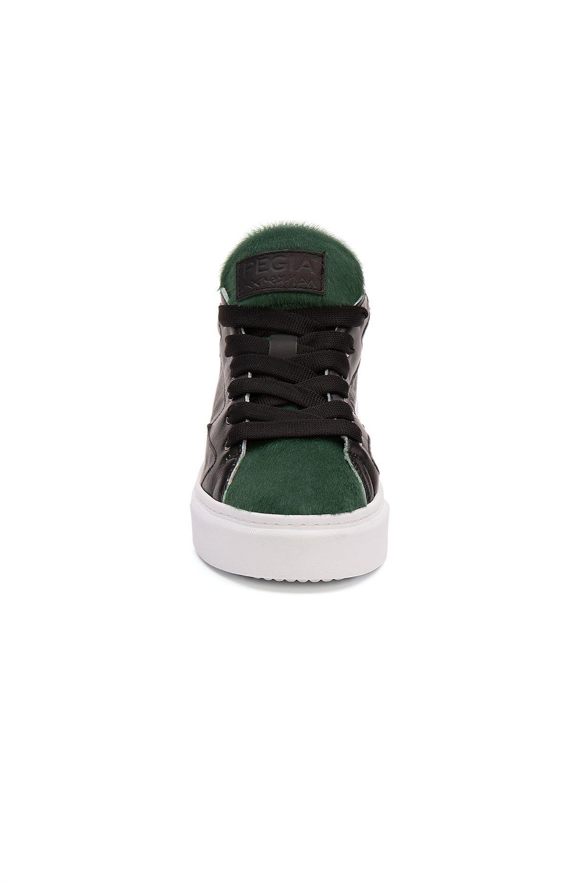 Pegia Genuine Leather Women's Sneaker LA1511 Green