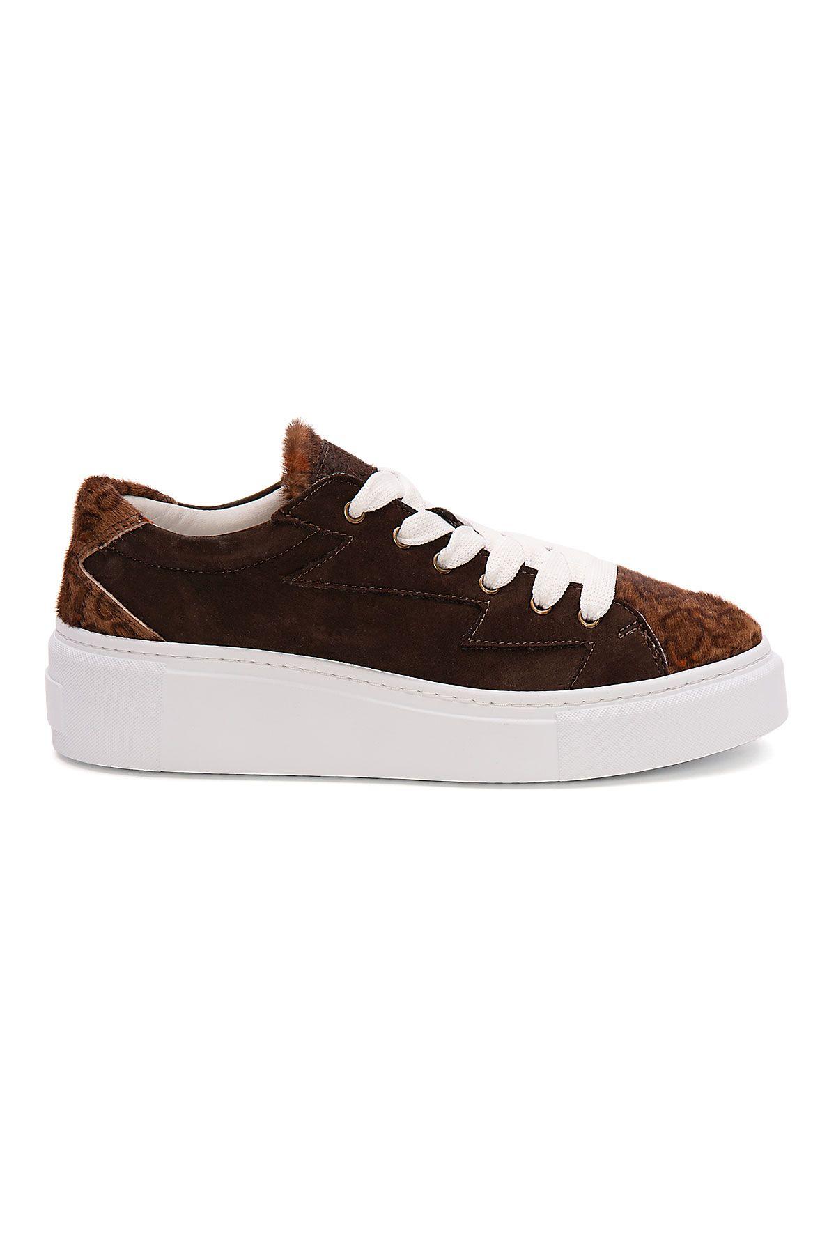 Pegia Genuine Leather Women's Sneaker LA1513 Brown
