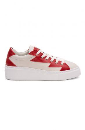 Pegia Genuine Leather Women's Sneaker LA1515 White