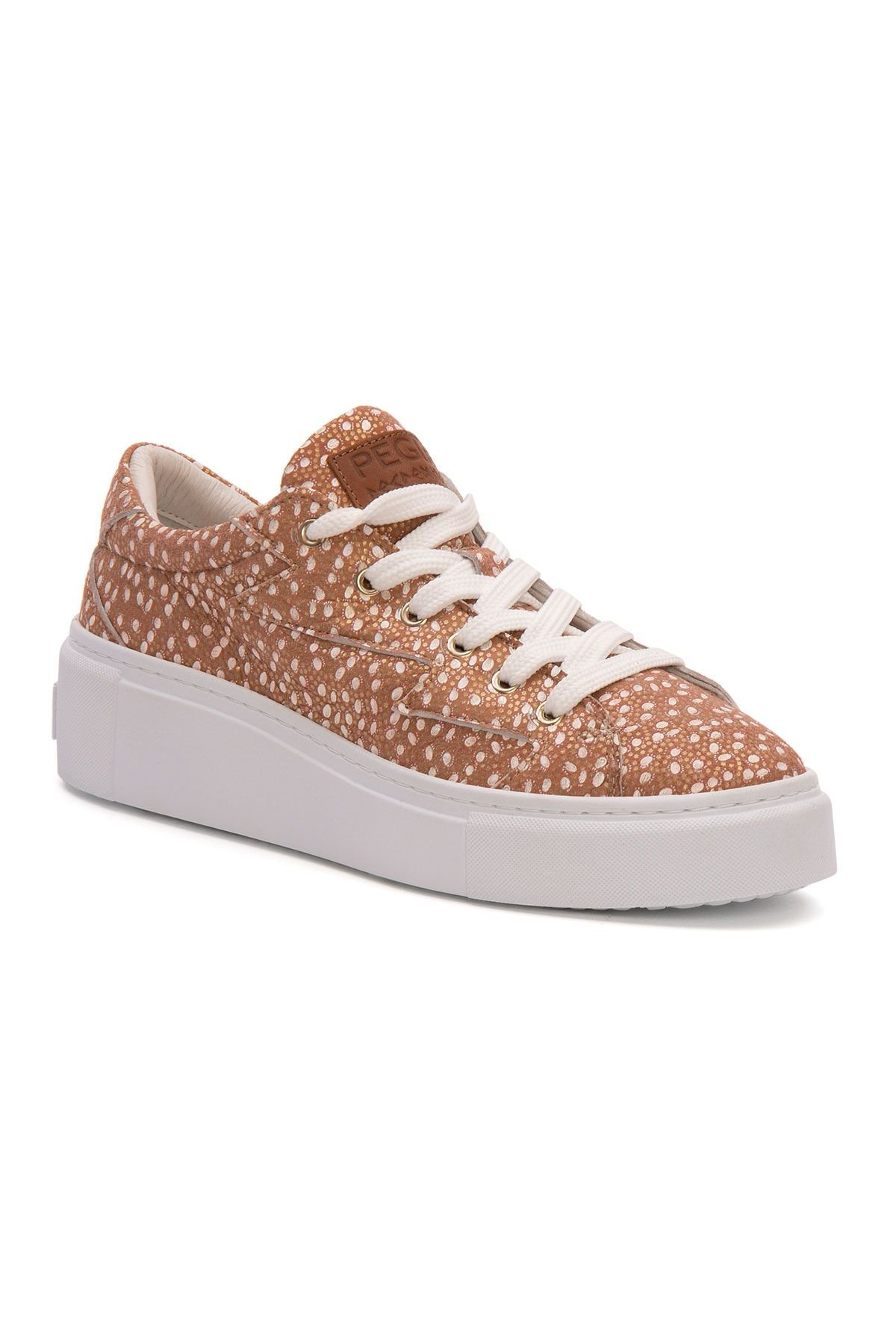 Pegia Genuine Leather Women's Sneaker LA1518 Powdery