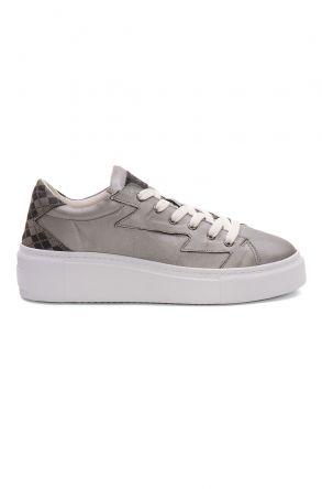 Pegia Genuine Leather Women's Sneaker LA1519 Gray
