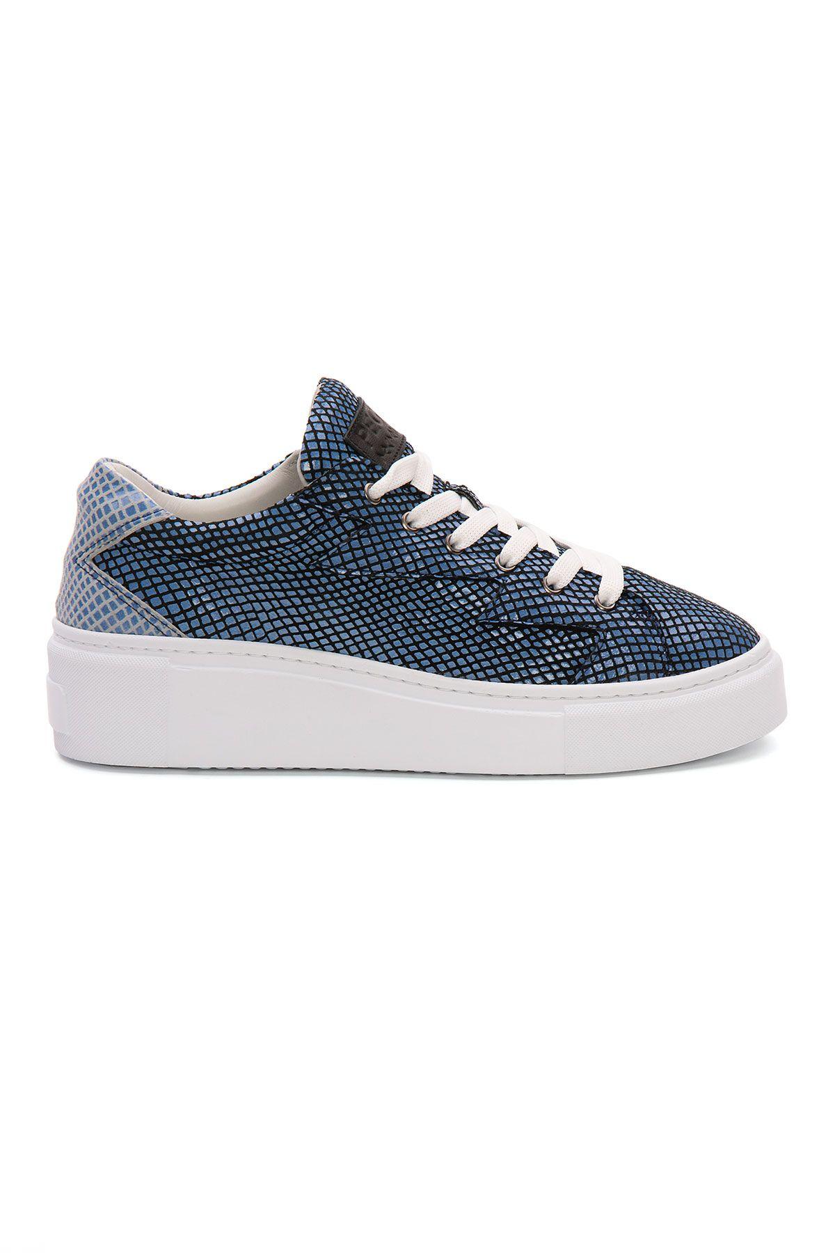 Pegia Genuine Leather Women's Sneaker LA1520 Blue