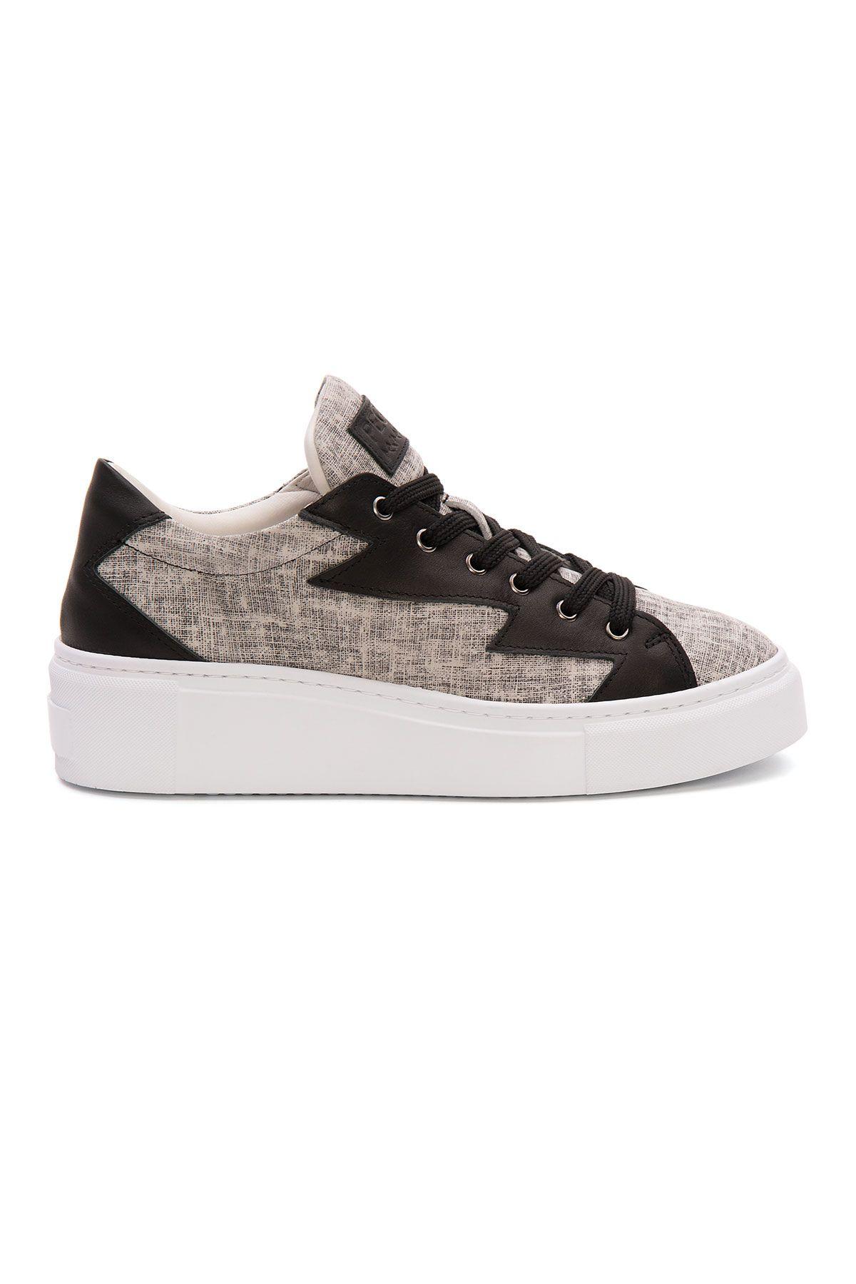 Pegia Genuine Leather Women's Sneaker LA1524 Black