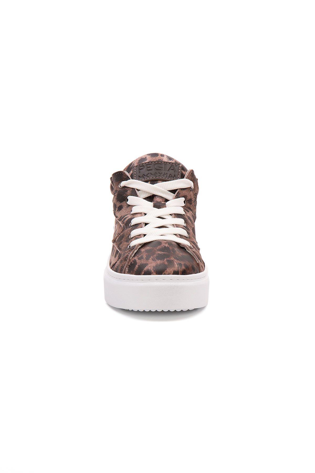 Pegia Genuine Leather Women's Sneaker LA1525 Brown