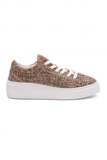 Pegia Genuine Leather Women's Sneaker LA1528 Ginger