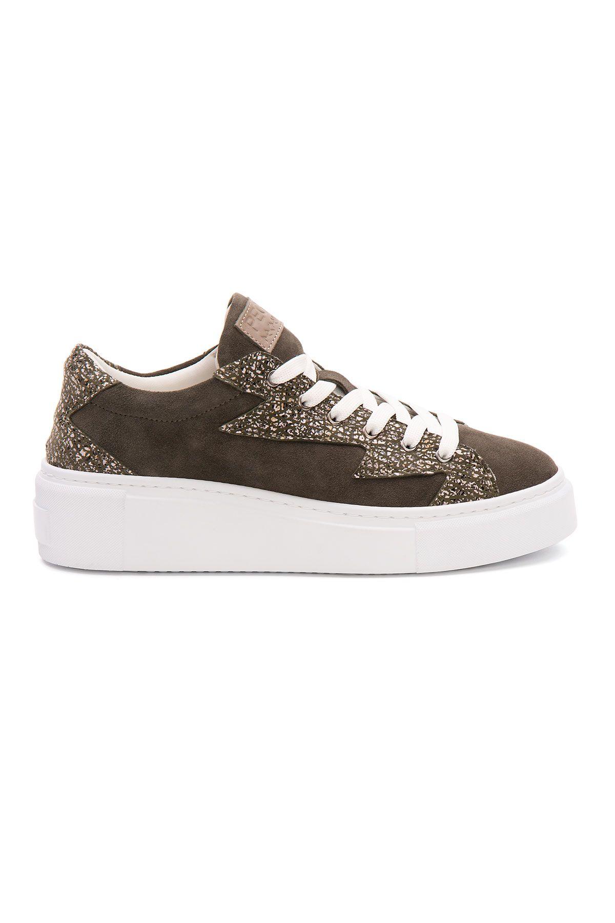 Pegia Genuine Leather Women's Sneaker LA1529 Visone