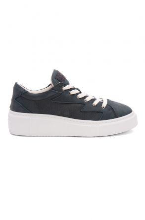 Pegia Genuine Leather Women's Sneaker LA1530 Dark Gray