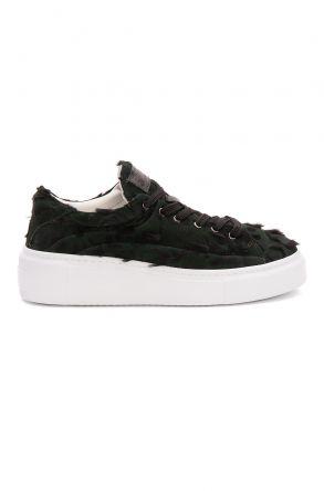 Pegia Genuine Leather Women's Sneaker LA1531 Green