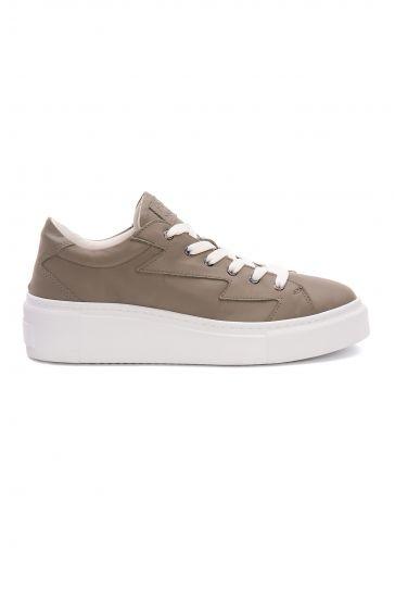 Pegia Genuine Leather Women's Sneaker LA1532 Gray