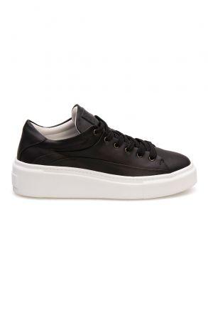 Pegia Genuine Leather Women's Sneaker LA1603 Black