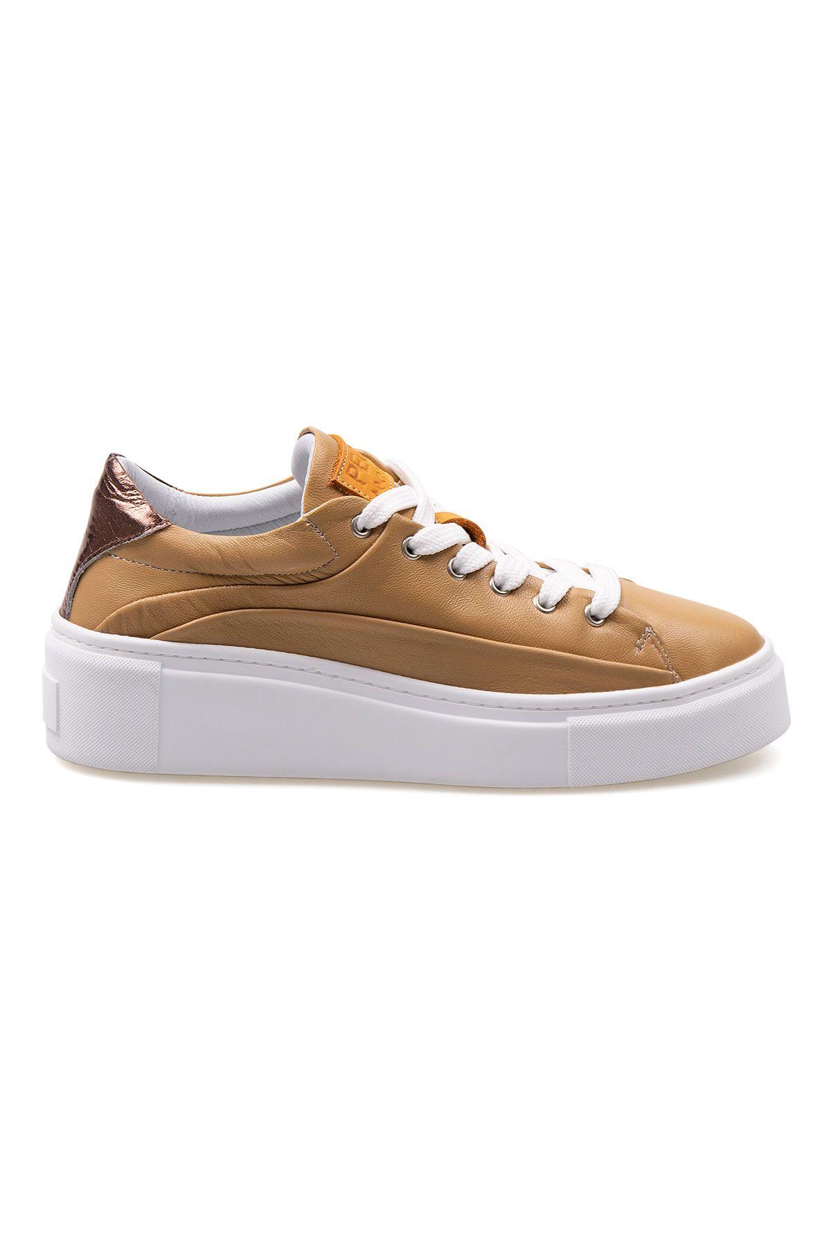 Pegia Genuine Leather Women's Sneaker LA1609 Ginger