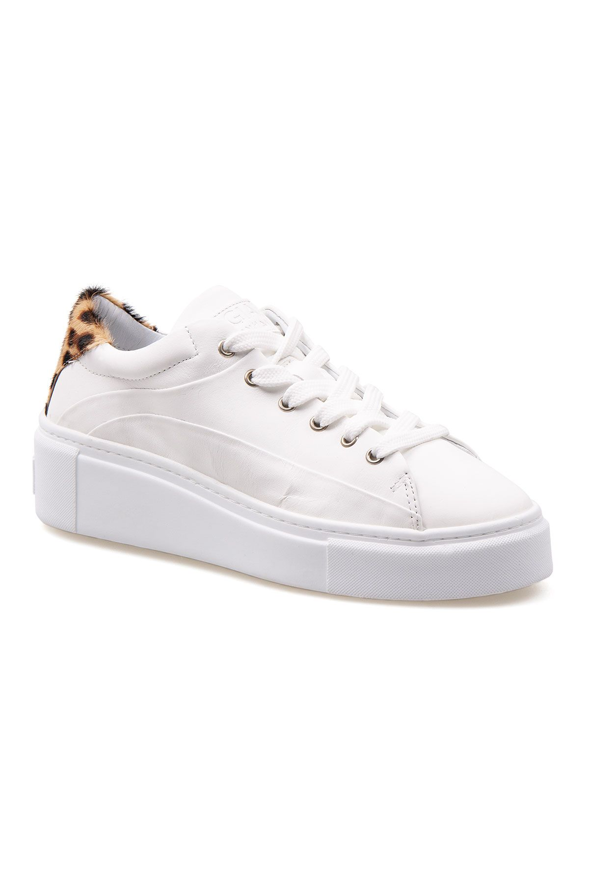 Pegia Genuine Leather Women's Sneaker LA1610 White