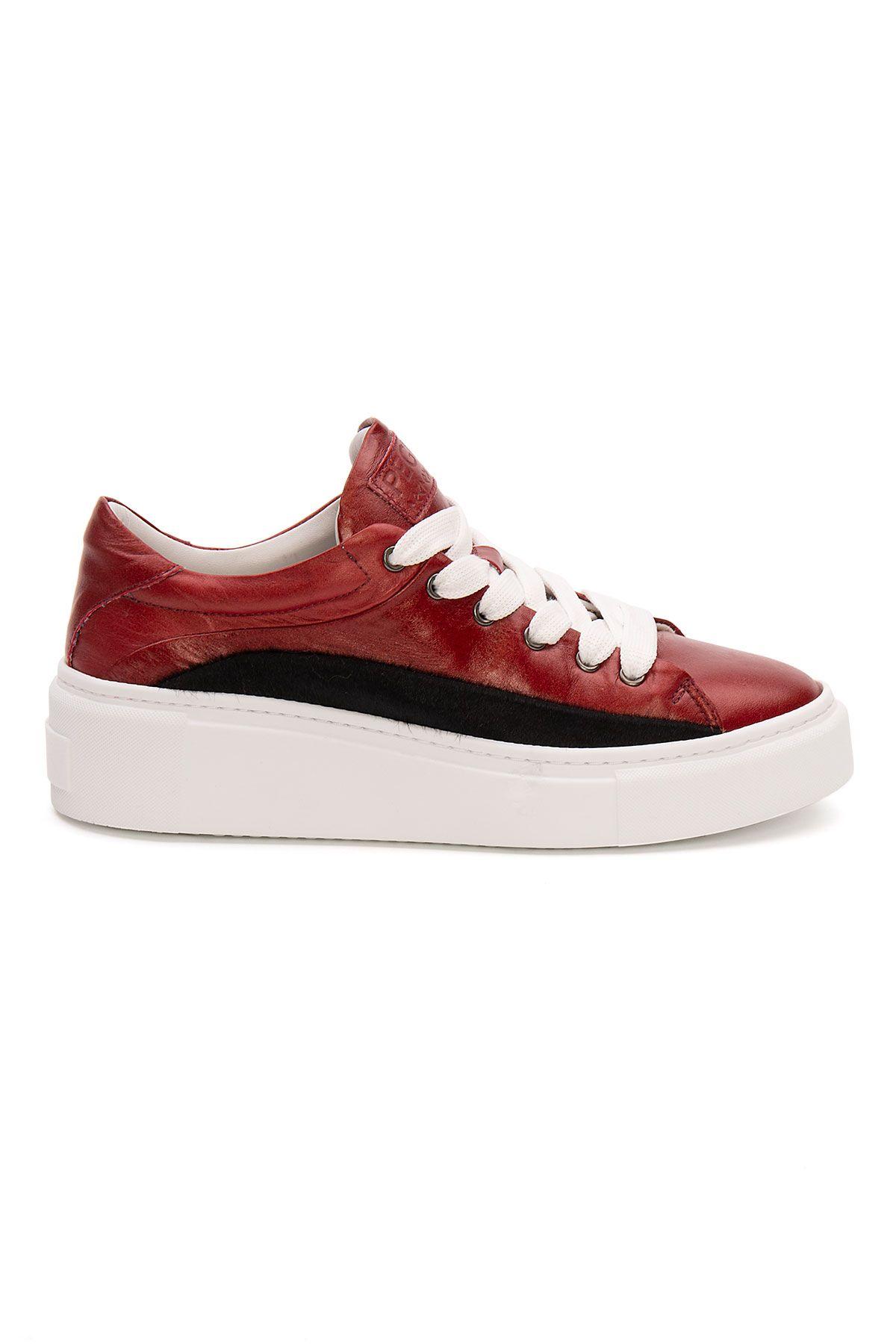 Pegia Genuine Leather Women's Sneaker LA1611 Red