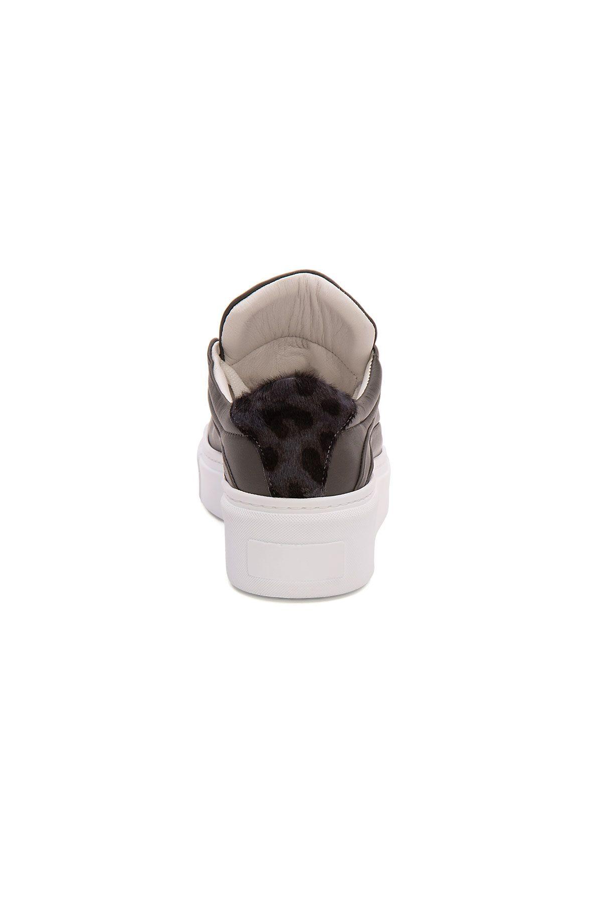 Pegia Genuine Leather Women's Sneaker LA1614 Gray