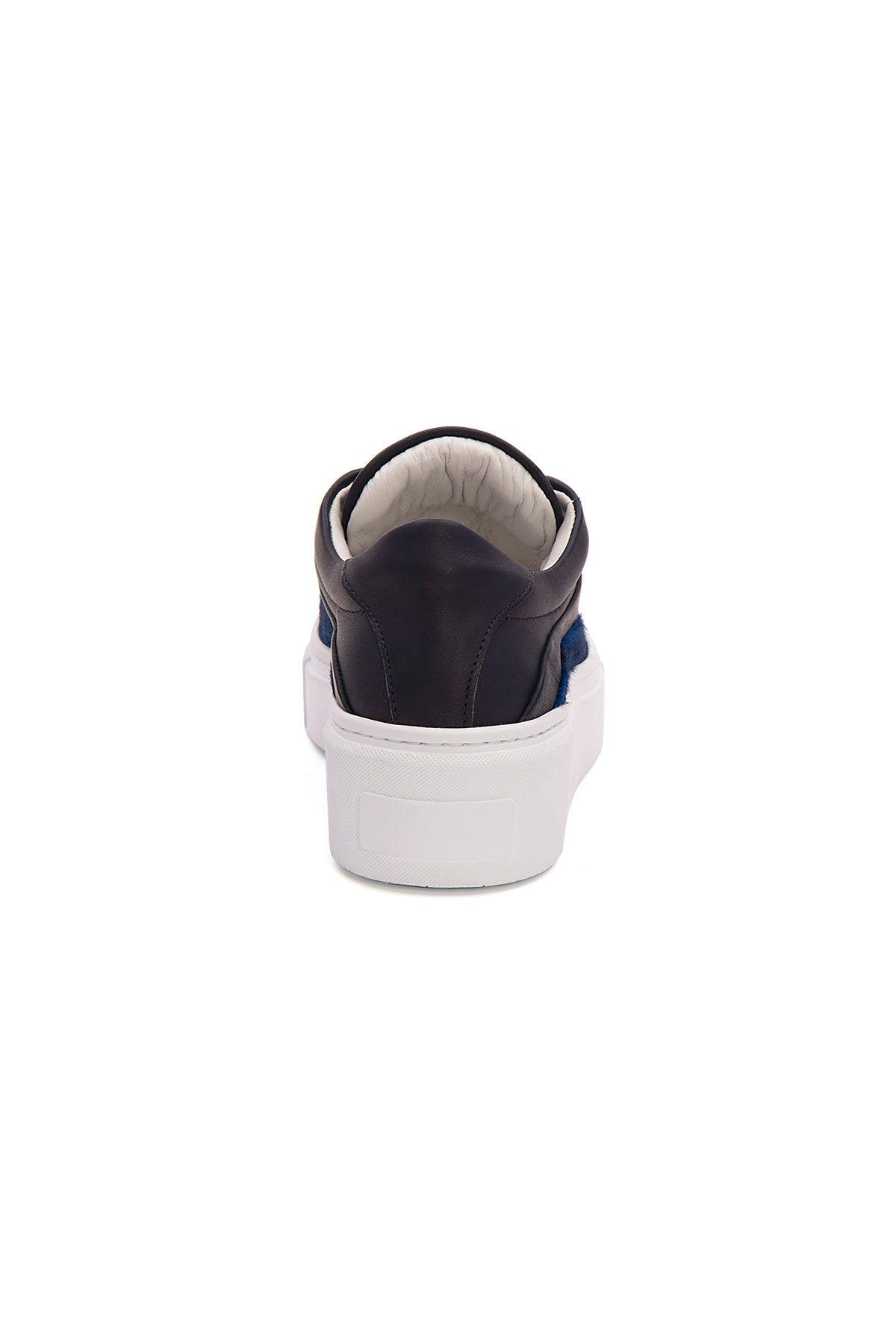 Pegia Genuine Leather Women's Sneaker LA1616 Navy blue