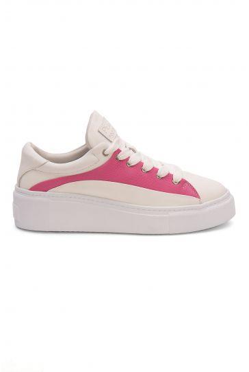 Pegia Genuine Leather Women's Sneaker LA1620 White