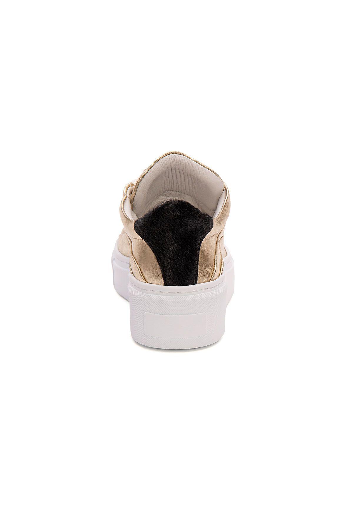 Pegia Genuine Leather Women's Sneaker LA1622 Golden
