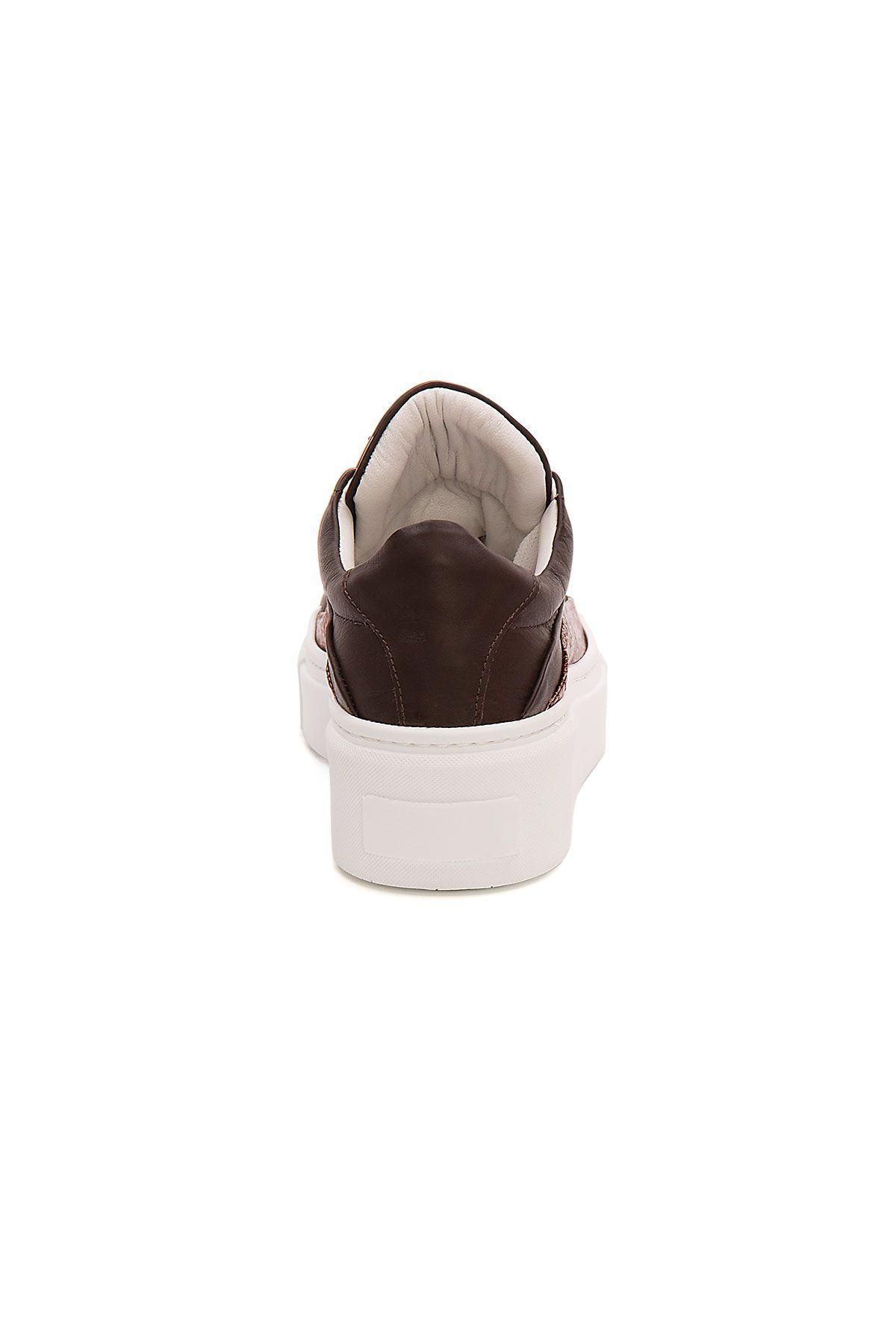 Pegia Genuine Leather Women's Sneaker LA1626 Brown
