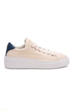 Pegia Genuine Leather Women's Sneaker LA1628 Beige