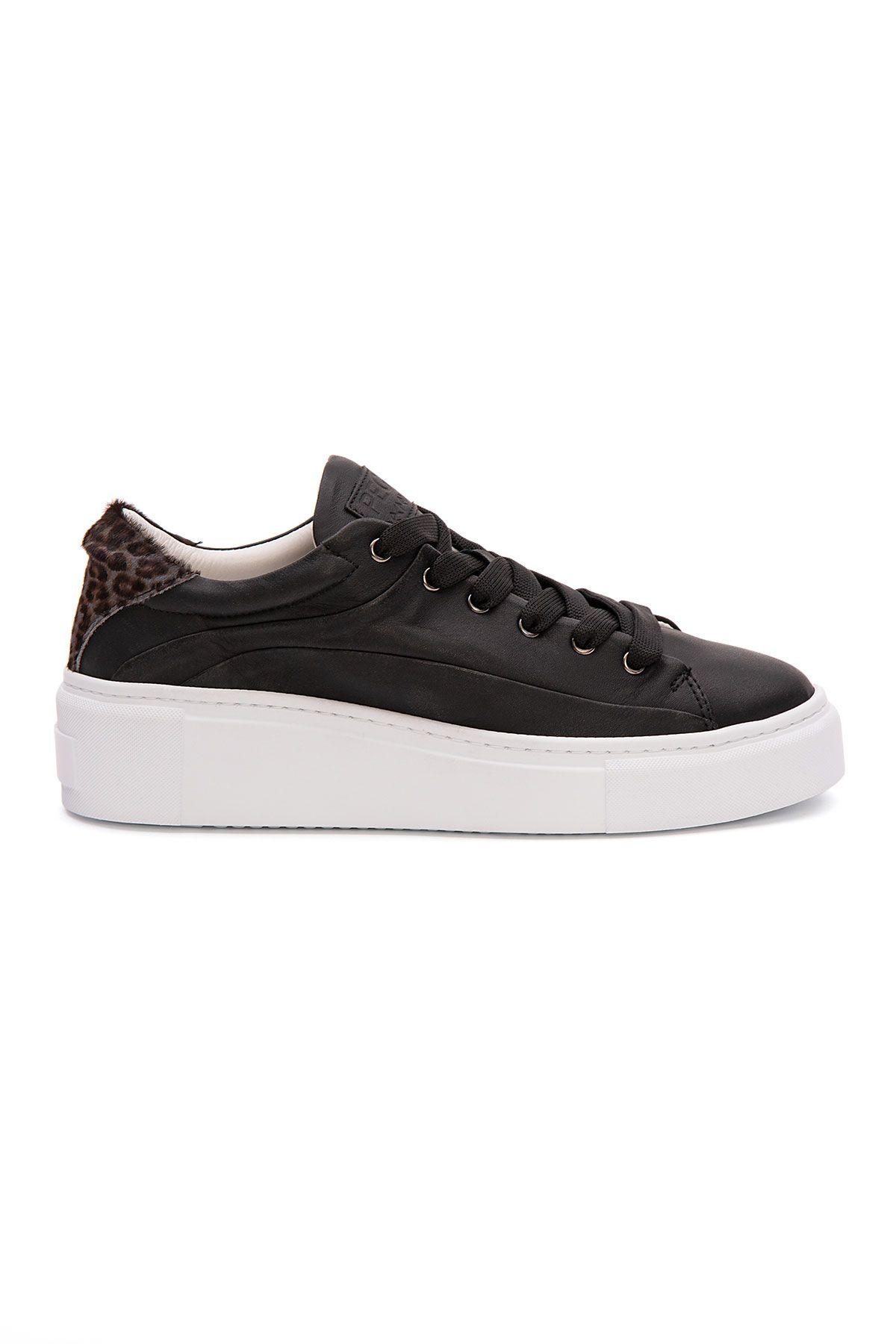 Pegia Genuine Leather Women's Sneaker LA1629 Black