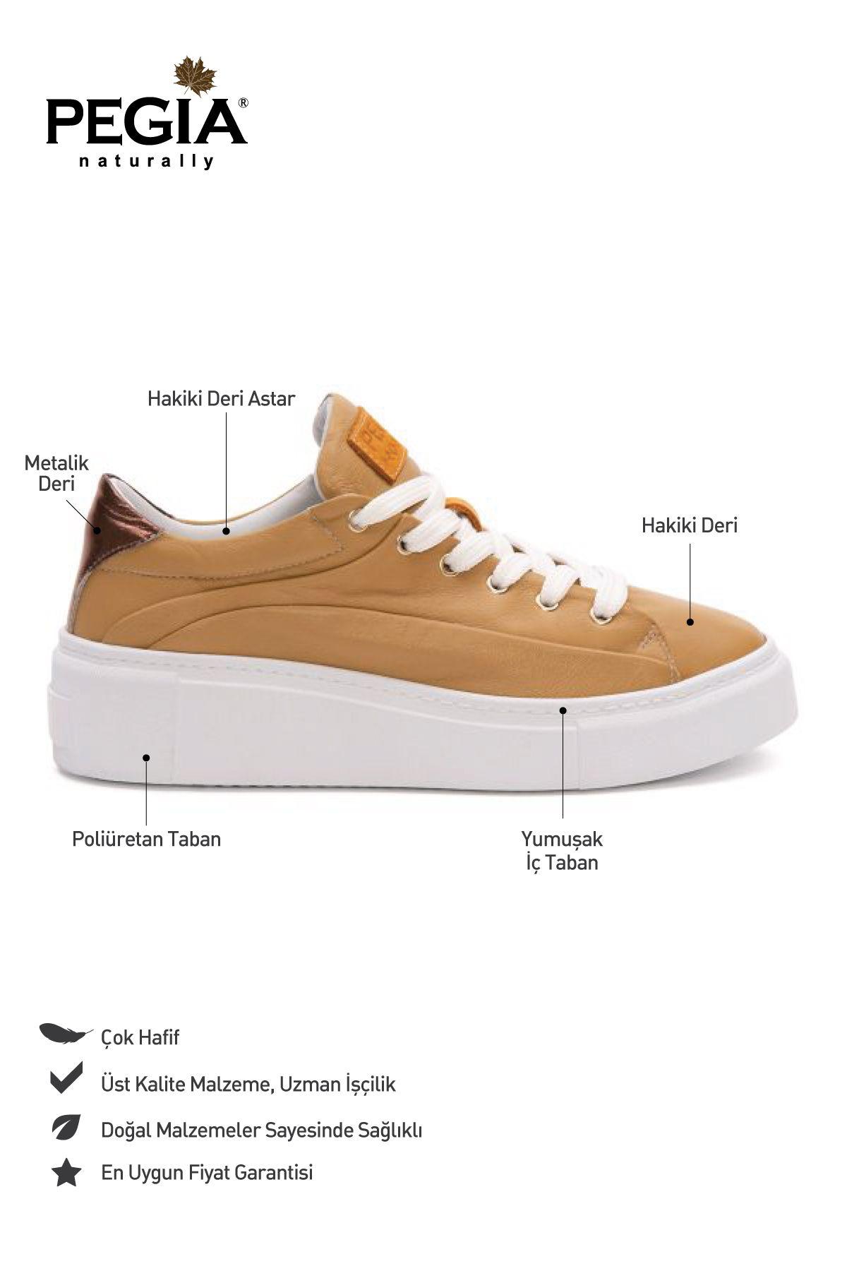 Pegia Genuine Leather Women's Sneaker LA1630 Ginger