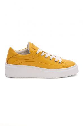 Pegia Genuine Leather Women's Sneaker LA1632 Yellow