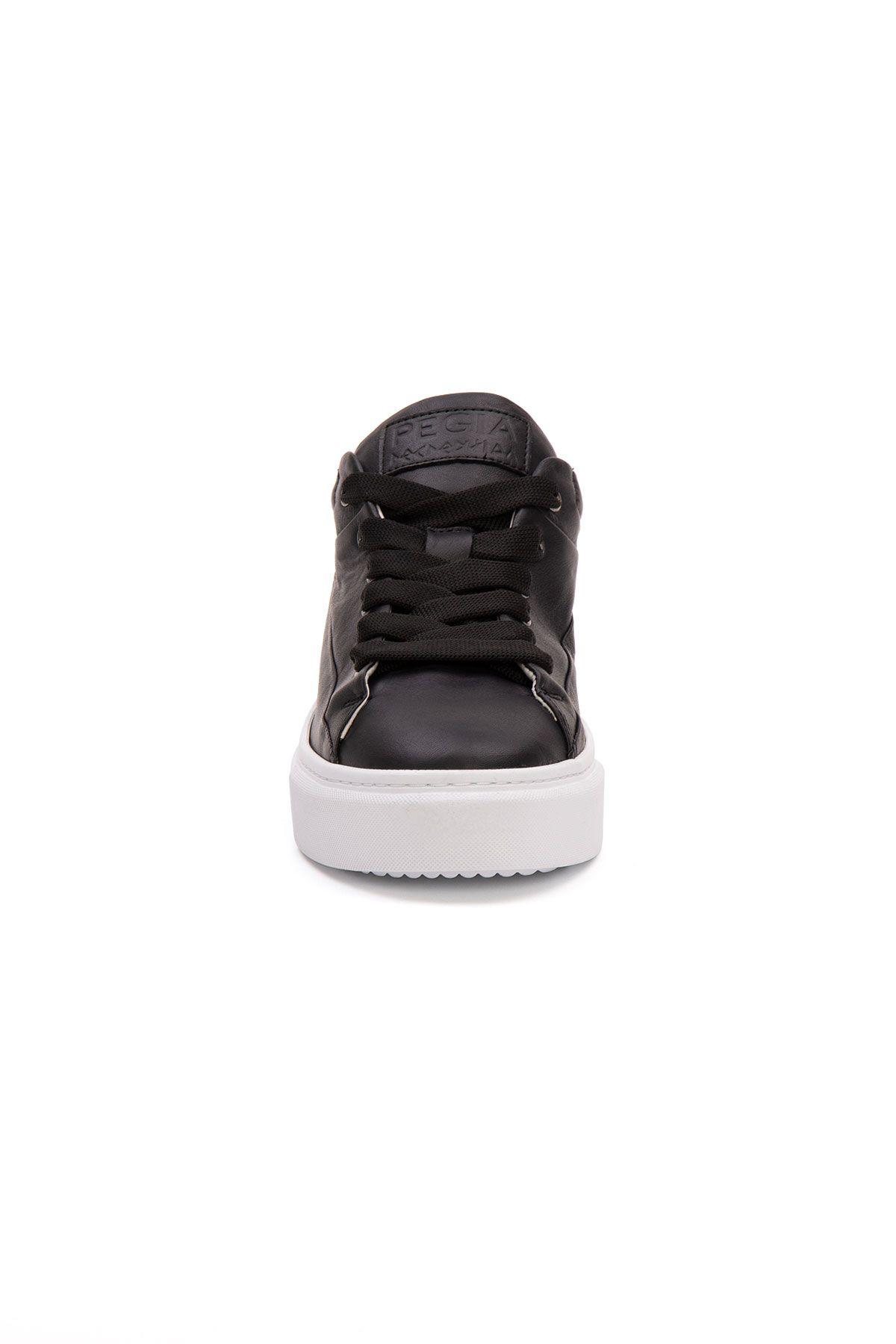 Pegia Genuine Leather Women's Sneaker LA1633 Black