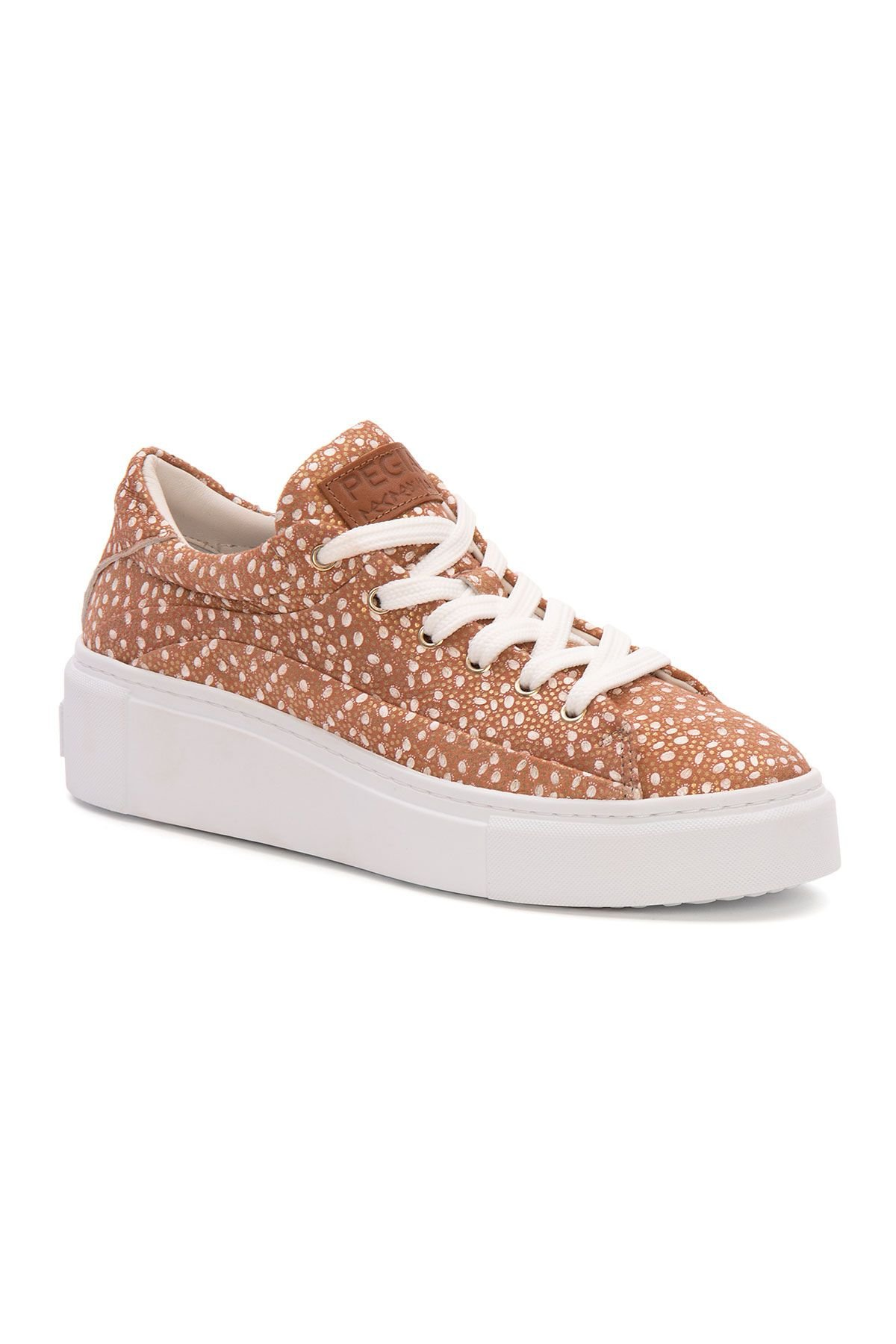 Pegia Genuine Leather Women's Sneaker LA1636 Powdery