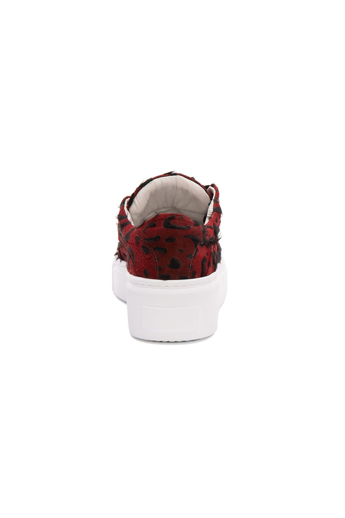 Pegia Genuine Leather Women's Sneaker LA1637 Red