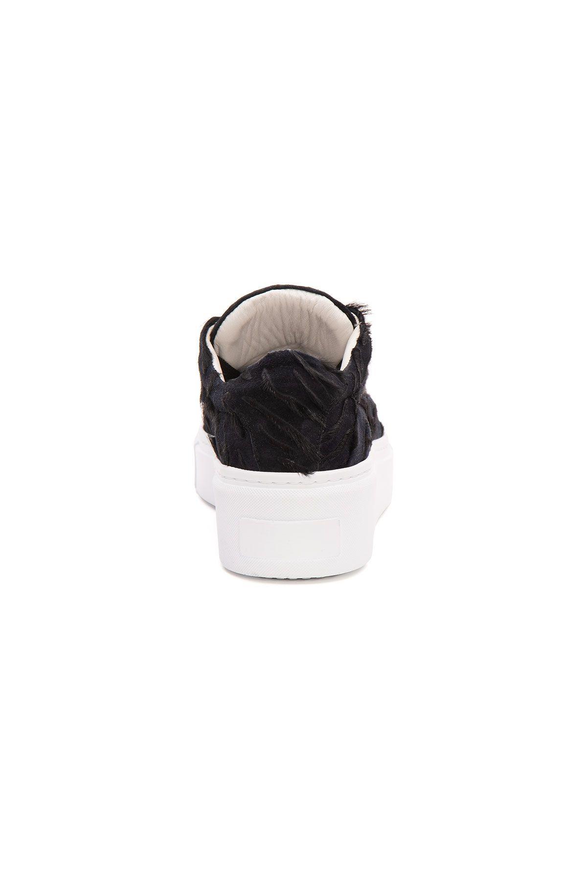 Pegia Genuine Leather Women's Sneaker LA1638 Black