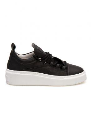 Pegia Genuine Leather Women's Sneaker LA1701 Black