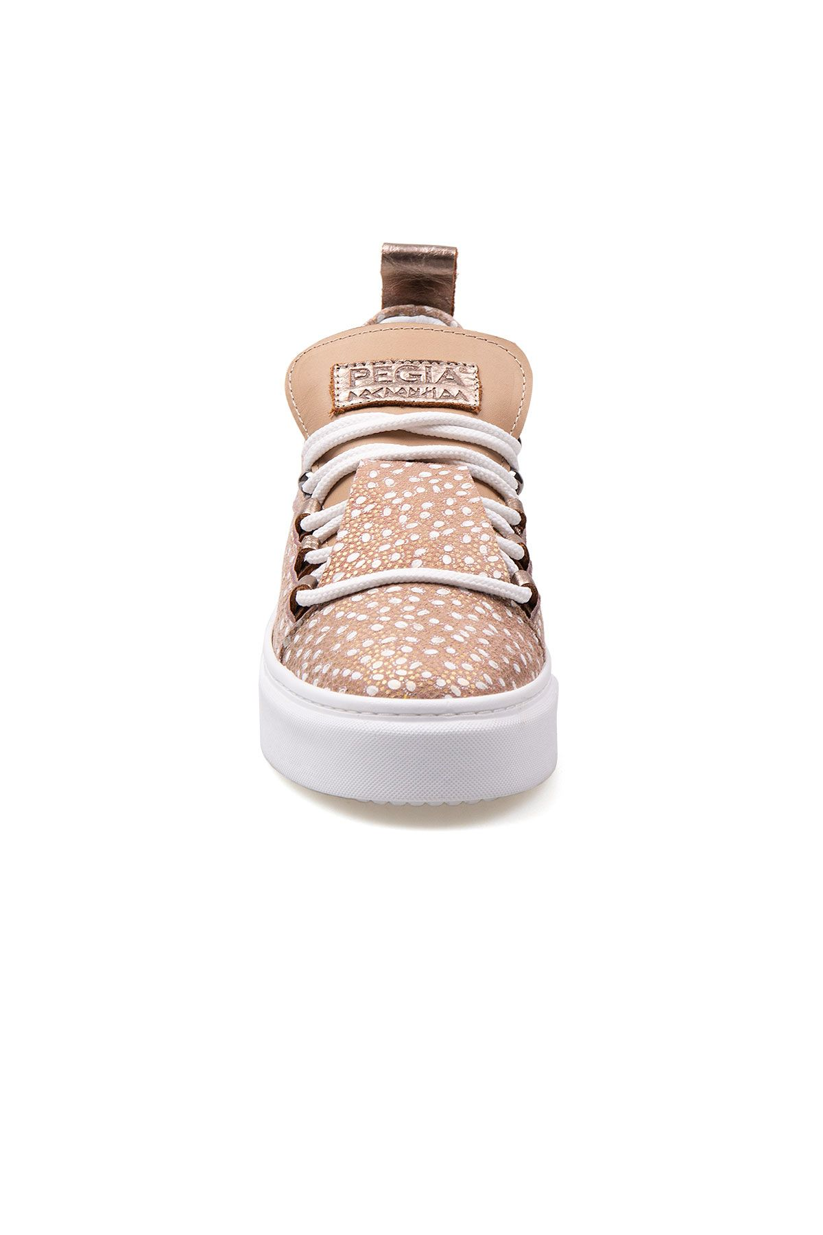 Pegia Genuine Leather Women's Sneaker LA1707 Powdery