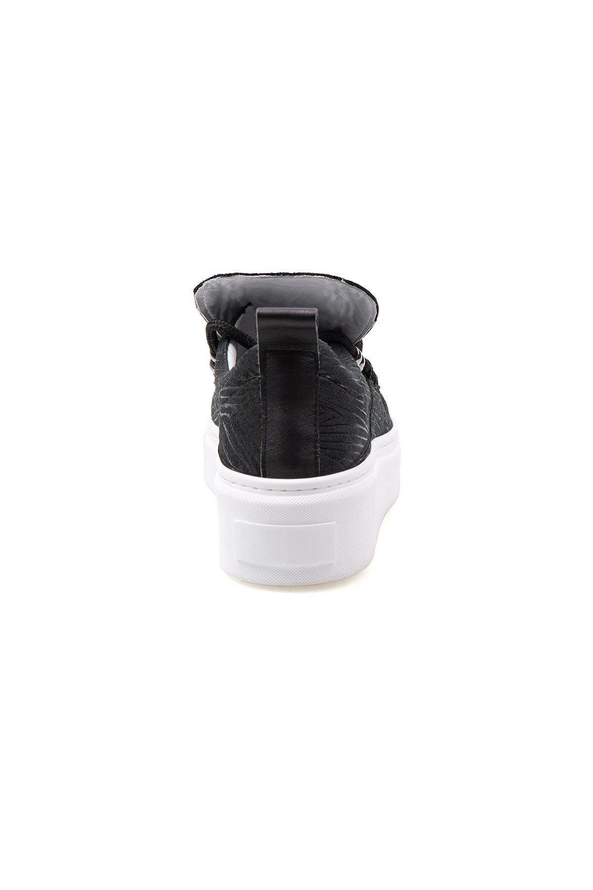 Pegia Genuine Leather Women's Sneaker LA1709 Black