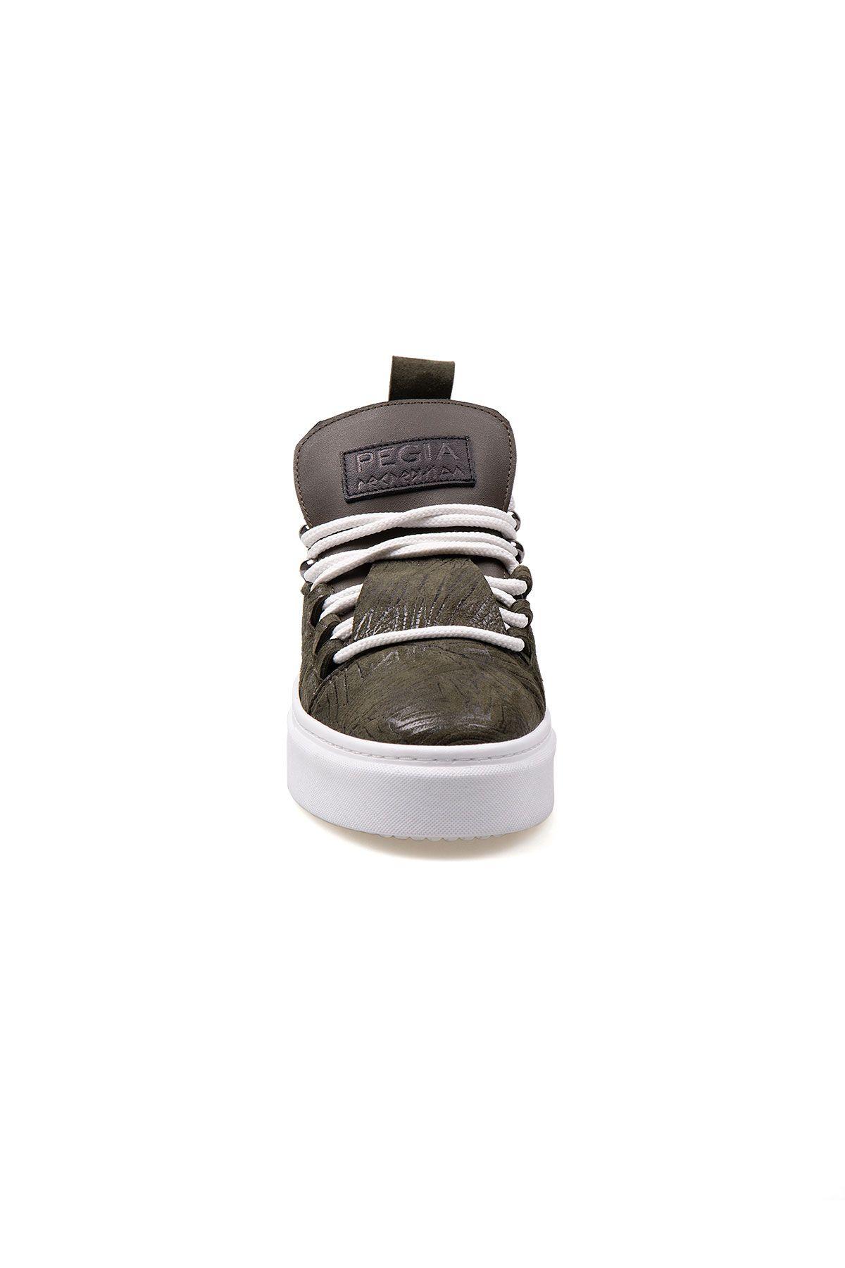Pegia Genuine Leather Women's Sneaker LA1709 Khaki