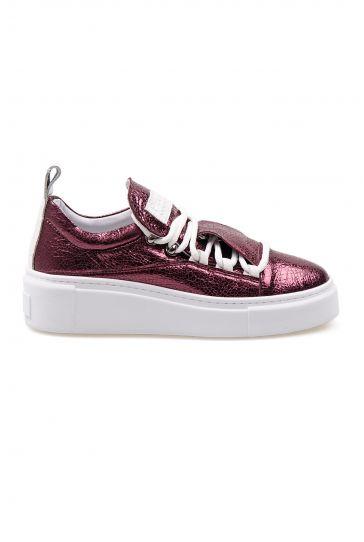 Pegia Genuine Leather Women's Sneaker LA1711 Claret red