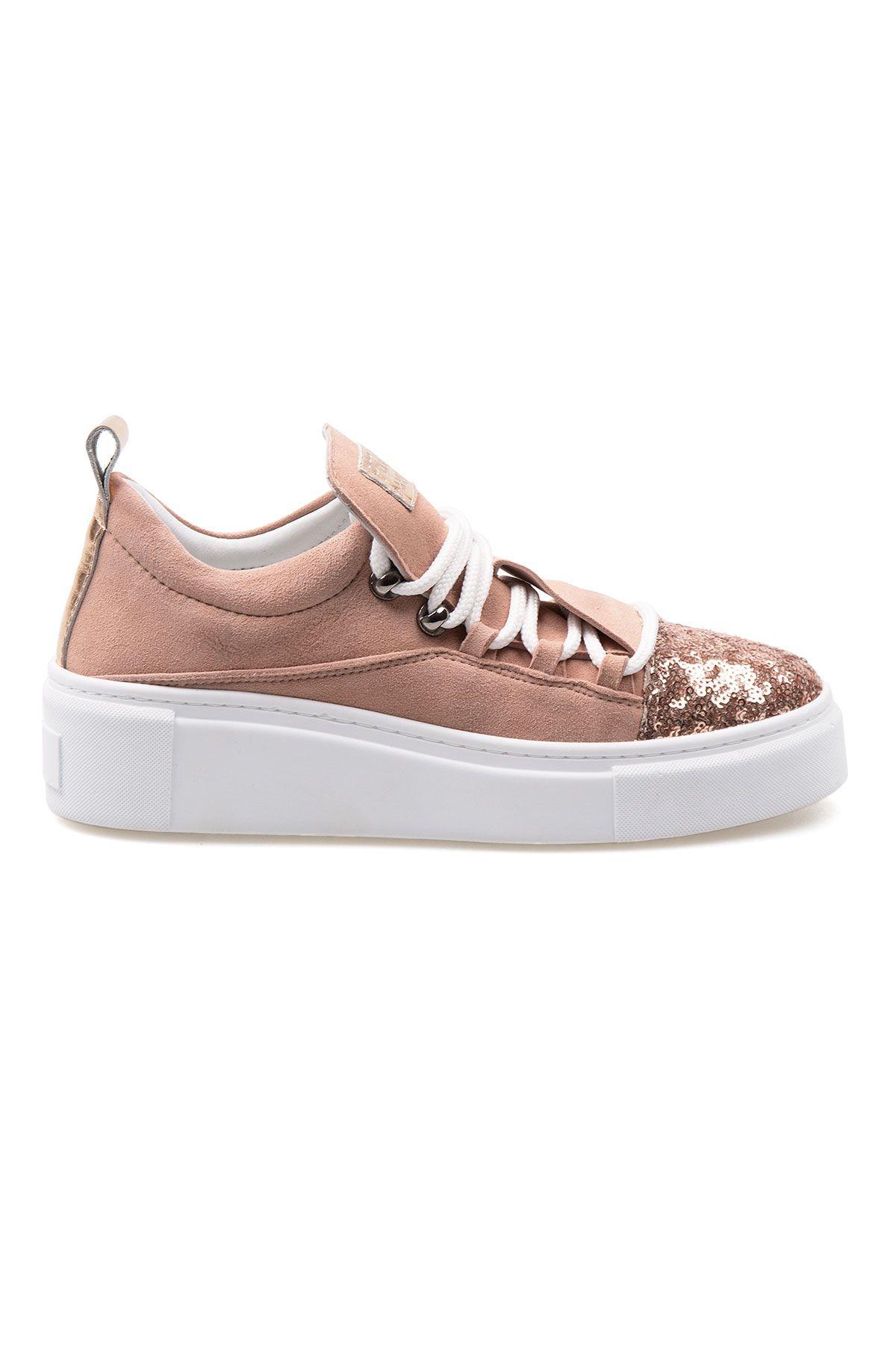 Pegia Genuine Leather Women's Sneaker LA1713 Powdery