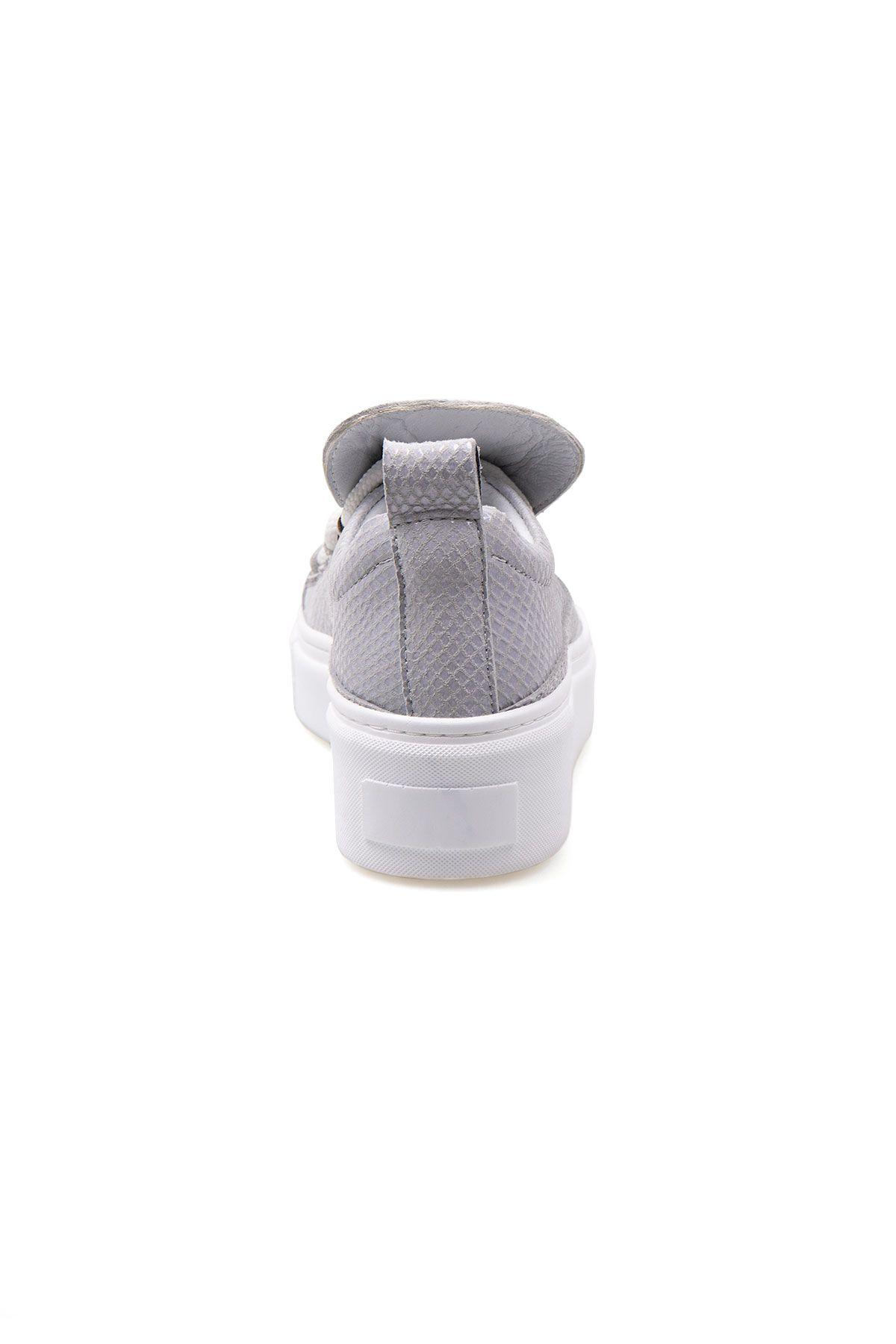 Pegia Genuine Leather Women's Sneaker LA1715 Gray