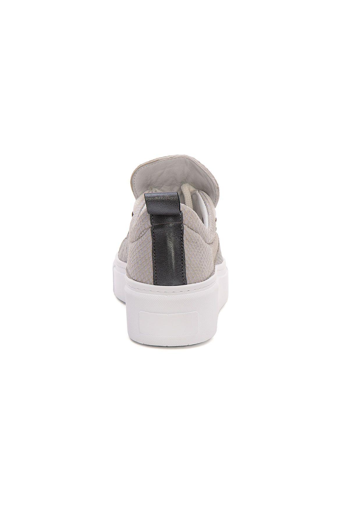 Pegia Genuine Leather Women's Sneaker LA1716 Gray