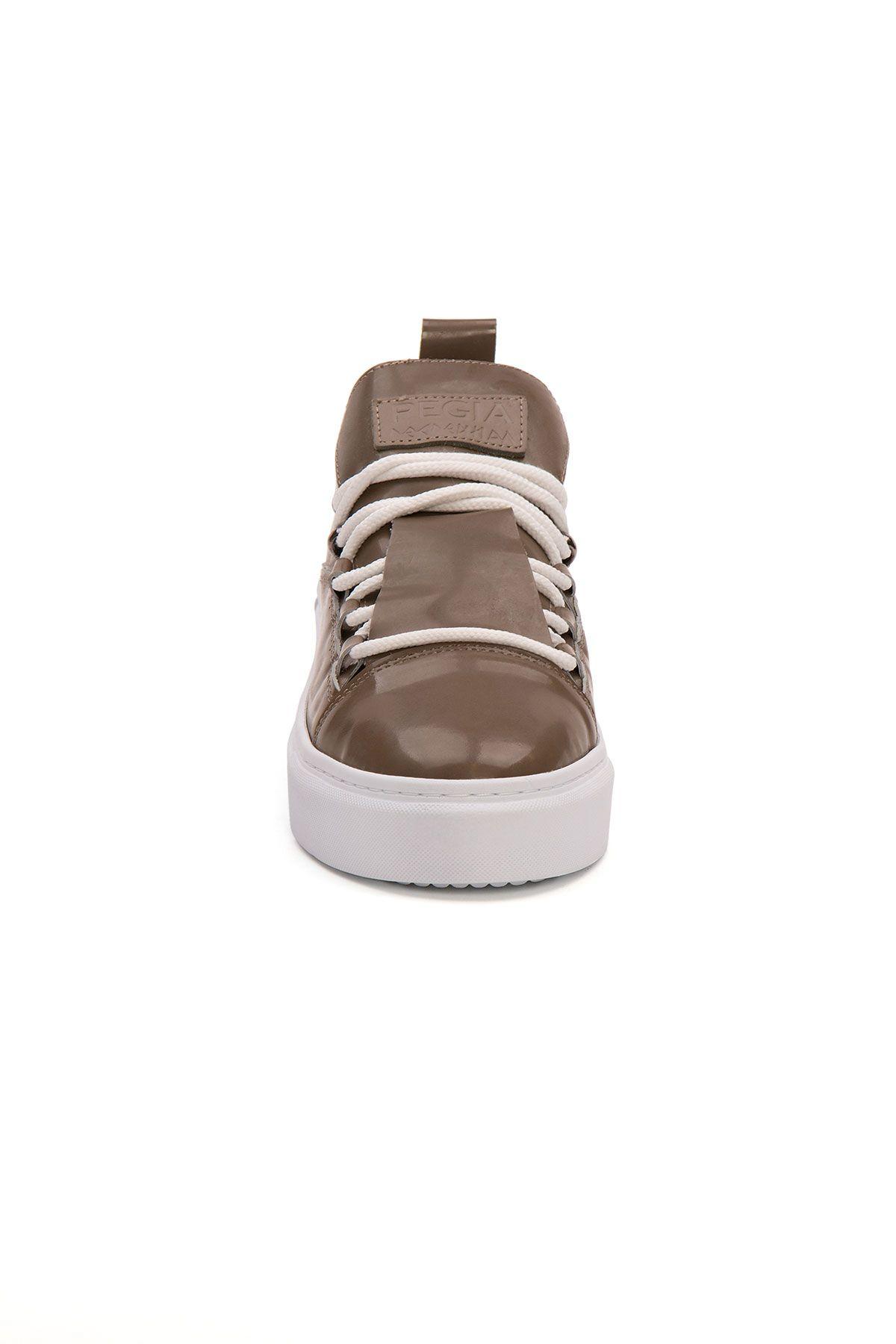Pegia Genuine Leather Women's Sneaker LA1717 Khaki