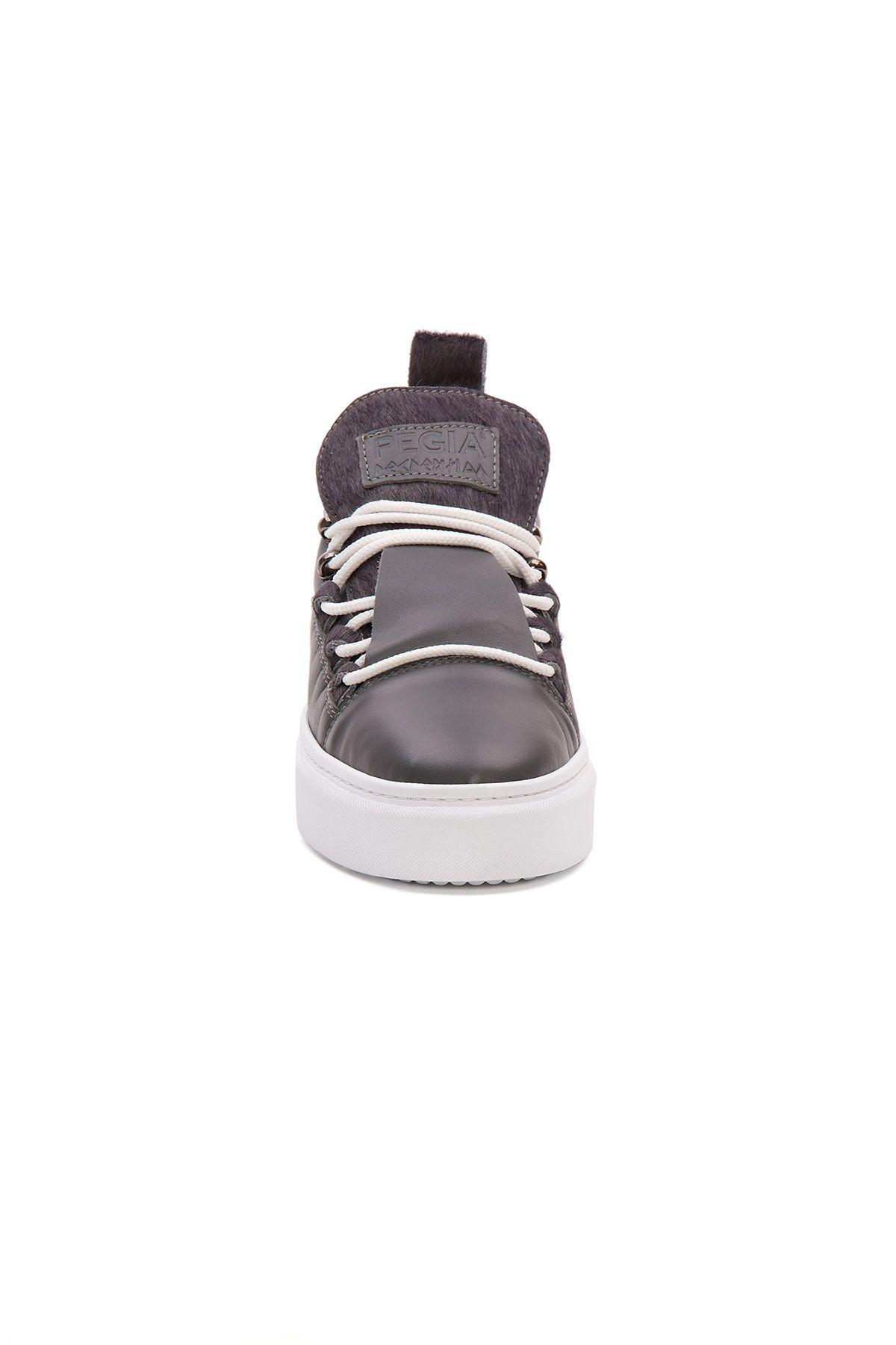 Pegia Genuine Leather Women's Sneaker LA1719 Gray