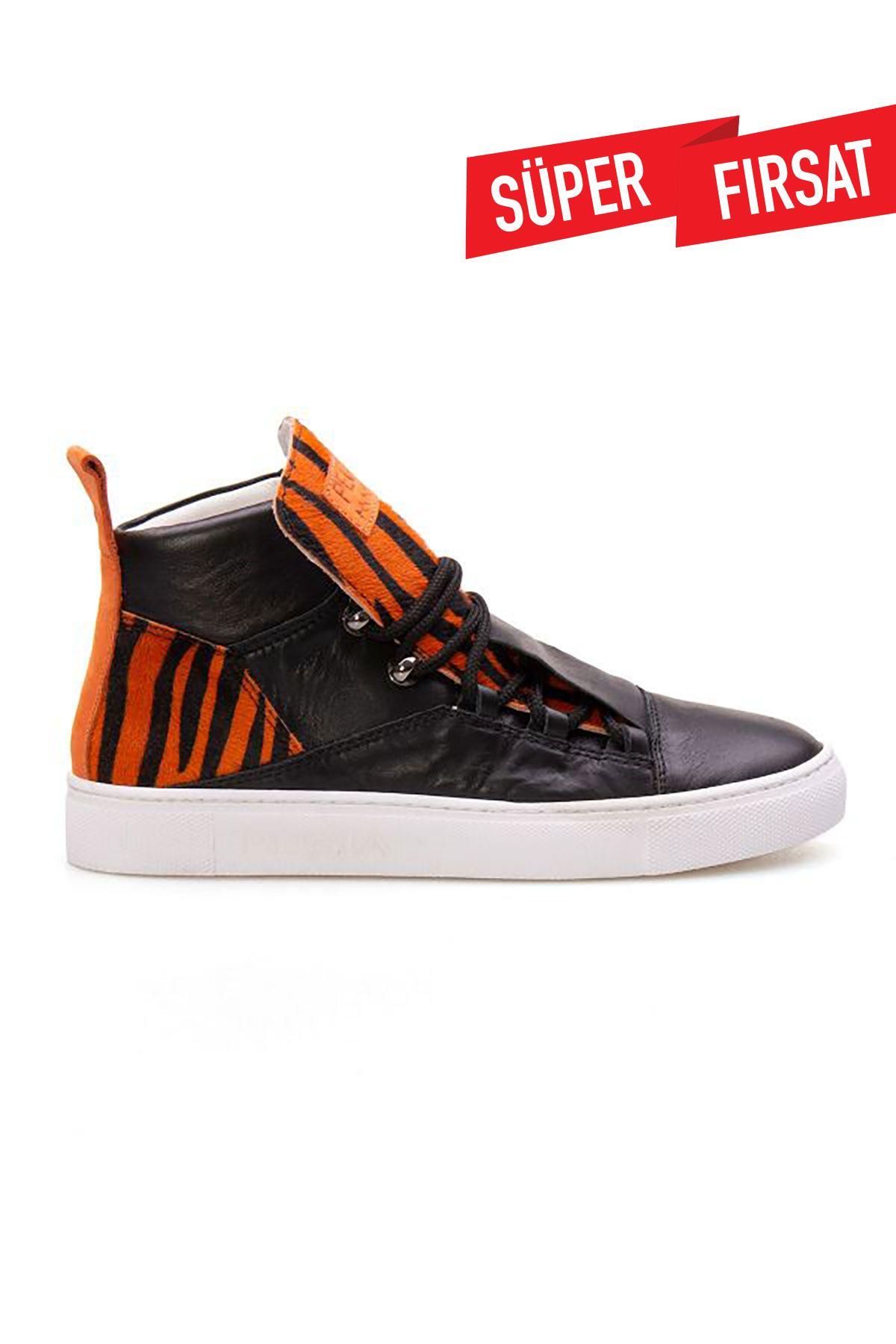 Pegia Genuine Leather Women's Sneaker LA1305 Orange