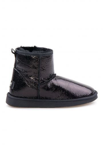 Pegia Shearling Women's Boots With A Pattern 191027 Black