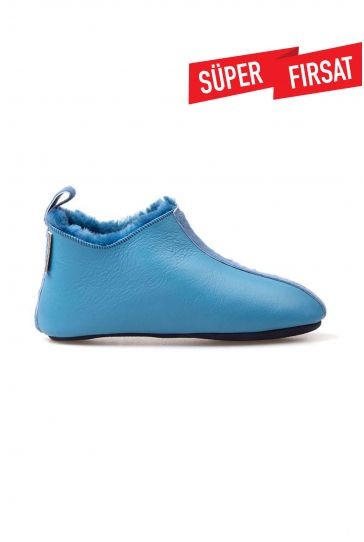 Pegia Women Shearling House Shoes 213502 Turquoise