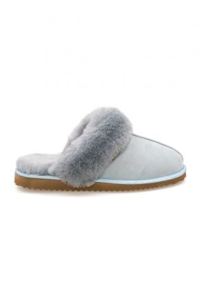 Pegia Genuine Sheepskin Women's House Slippers 212001 Blue